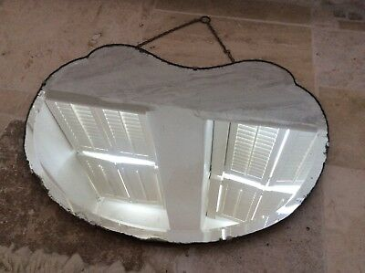 Vintage Wall Hanging Art Deco Bevelled Mirror