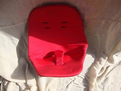 Quinny Buzz 3 / 4 Pushchair Pram Rebel Red Hood Foam Newborn Seat