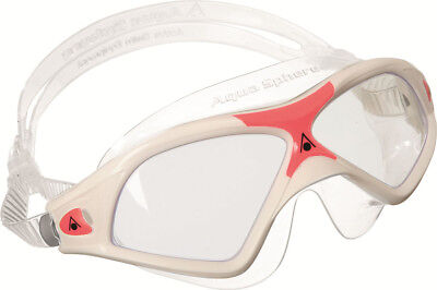 Aqua Sphere Seal XP2 Ladies Swimming Goggles, Clear lens - White/Red