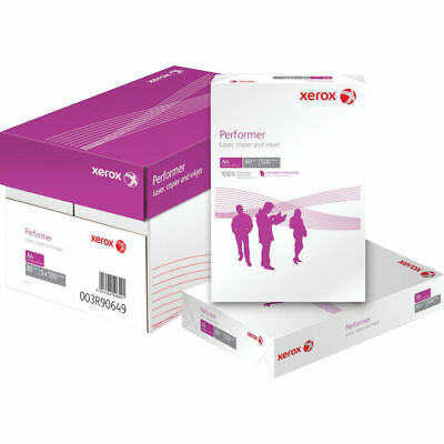 Xerox Performer A4 Office Printer Copier Paper 80Gsm 1 Box = 5 reams=2500 sheets