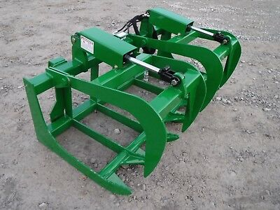 "John Deere Tractor Loader 60"" Dual Cylinder Root Grapple Bucket - $179 Ship!"