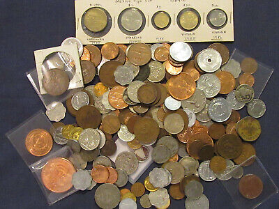 World Coins  2 Pounds  of coins   nice coin lot  you get what you see !!