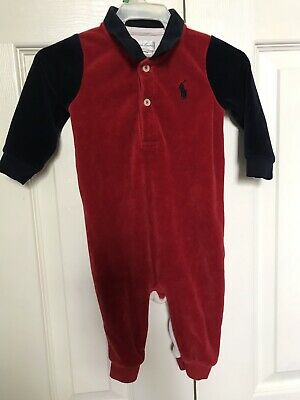 adfa06671 Polo Ralph Lauren Baby Boy Long Sleeve Jumper 6 Month Infant One Piece  Outfit