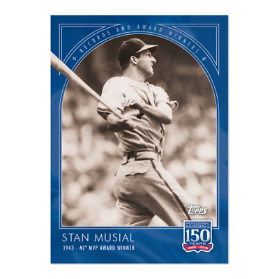 2019 Topps 150 Years of Baseball #25 Stan Musial St. Louis Cardinals
