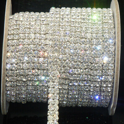 1 Yard 1-Row Cystal Rhinestone Trimming Close Cup Chain Claw Chain Craft Jewelry