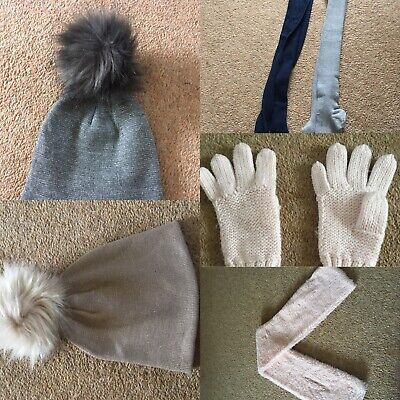 Mixed Brand Girls Gloves Scarf Hats Tights Winter Accessories Bundle 11-13 Years