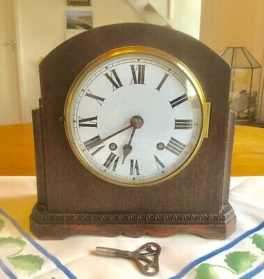 Vintage 'Smiths Empire' Striking Mantel Clock - Working With Key