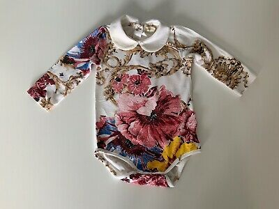 Roberto Cavalli Long Sleeve Top Age 3m Months Gc Girls