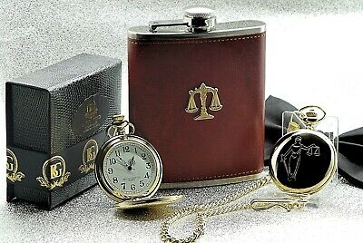 LEGAL SCALES OF JUSTICE Pocket Watch Gift Solicitor Police Law Graduate Lawyer