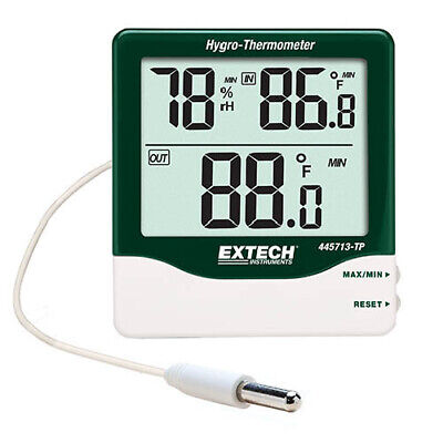 Extech 445713-TP Big Digit Indoor/Outdoor Compact Hygro-Thermometer