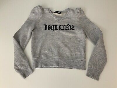 Dsquared2 Grey Girls Jumper Sweater Age 8 Years Vgc