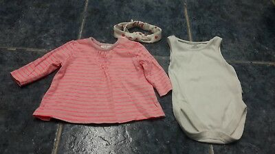 Baby girl top, bodysuit & headband bundle size 0-3 mths by NEXT