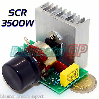 Regulator of Speed Scr 3500w 220v for Engines AC Lamps Dimmer Voltage Temp