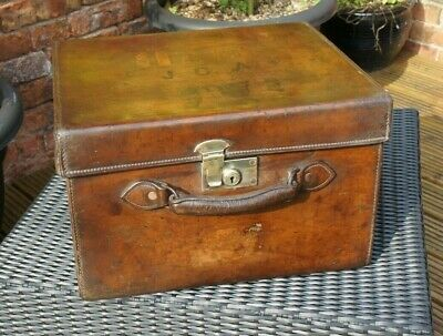 Edwardian Solid Leather Square Hatbox Top Hat Royal Ascot