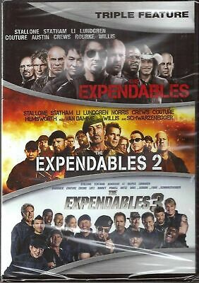 The Expendables 1, 2 & 3 - (DVD)  Brand New