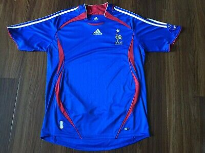d08977483d0 France National Adidas Team Sz L 2006 2007 Home Football Shirt Jersey Soccer