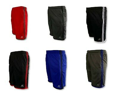 Mens Mesh Jersey 2 Pocket  Basketball Shorts Gym Fitness Workout Athletic Casual