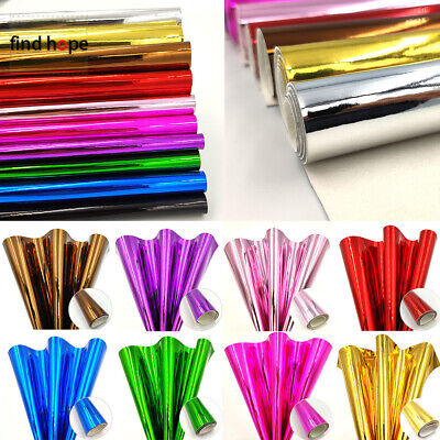 Bows Bag Foil Material Sheets Metallic Mirror Faux Leather PU Leatherette Fabric