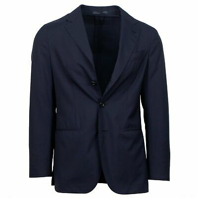 NWT CARUSO Navy Blue Wool 3 Roll 2 Button Sport Coat 46/36 R Drop 9