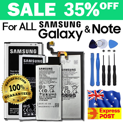 New Original Battery For Samsung Galaxy S4 S5 S6 S6 EDGE S7 S7 Edge Note 2 3 4 5