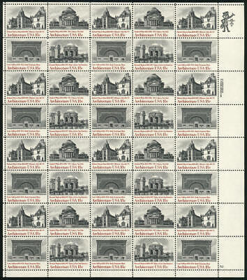 US #1928-1931 1928-31 1931a 18¢ American Architecture Sheet of 40 VF NH MNH