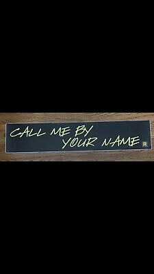 Call Me By Your Name 5 x25 Large Movie Mylar
