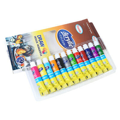 Artist Acrylic Paint Colour Quality Artist Paint set of 12, 9ml Tubes