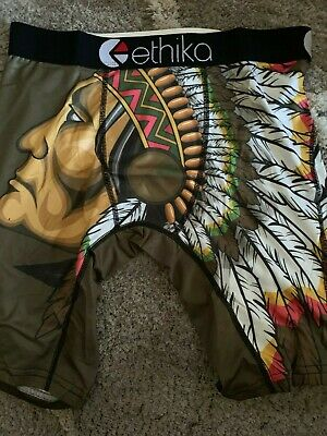 Ethika The Staple Fit - Native American Indian - Men's Boxer Brief Underwear