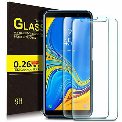 For Samsung Galaxy A7 2018 Screen Protector 9H Hardness clear Tempered Glass jc