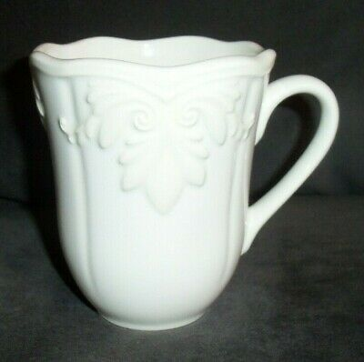 """Lenox Butlers Pantry Gourmet Large 4 1/2"""" Mug Embossed Scalloped Discontinued"""