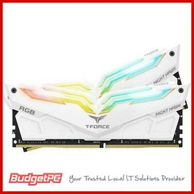 Team T-Force Night Hawk RGB 16GB (2x 8GB) DDR4 3200MHz Memory - White
