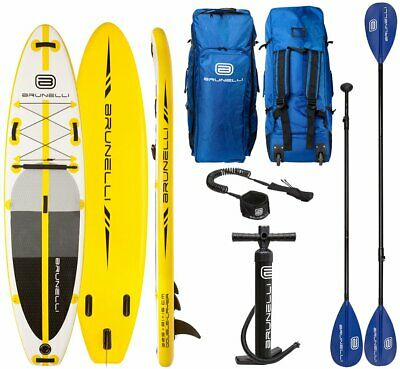 Brunelli 10.8 Premium Sup Board Stand Up Paddle Surf-Board avec Pagaie Leash