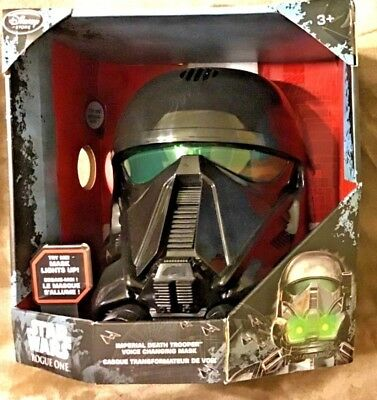 Disney STAR WARS ROGUE ONE Imperial Death Trooper Voice Changing Mask Helmet NEW