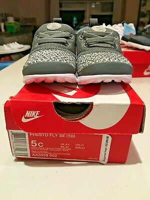 5e111ccd4023 NIKE PRESTO FLY Baby Toddler Boys  Shoe Olive Size 4c-10c NEW WITH ...