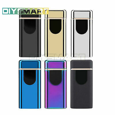 Electric Lighter Touch Sensor USB Rechargeable Double Arc Flameless Windproof AU