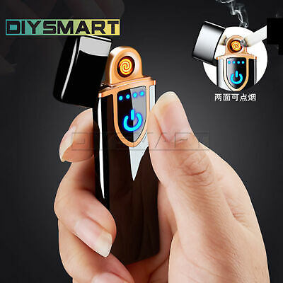 Lighter Smart Touch Sensor USB Rechargeable Flameless Windproof Metal AU