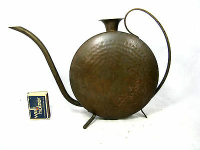 Well shaped handmade 50´s Stockburger copper watering can / Gießkanne  500 ccm