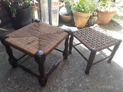 2 Antique Country Foot Stools