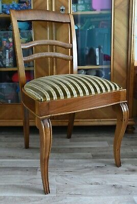 Antik Stuhl Chair um 1920 Art Deco Polsterstuhl