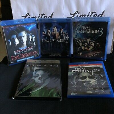 FINAL DESTINATION collection saga -BLU RAY-steelbook-Horror-5 film,HD-