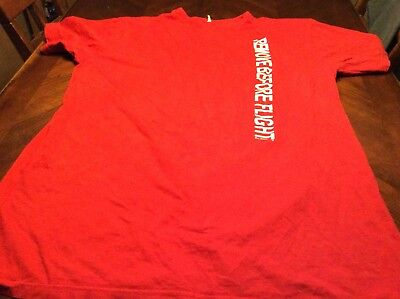 Remove Before Flight One Size Fits All Tshirt Red Unisex