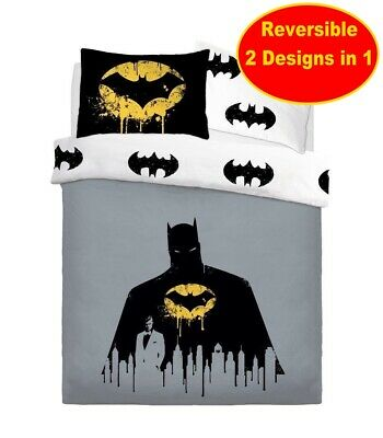 New Official Batman Single Duvet Quilt Cover Bedding Set Kids Boys DC Comics
