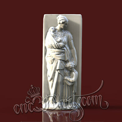 3D Model STL for CNC Router Artcam Aspire Antique Woman Panel Cut3D Vcarve