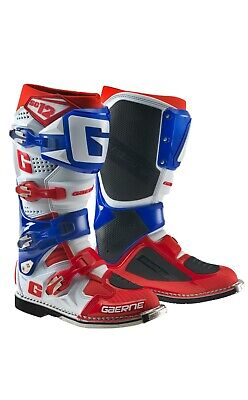 Gaerne Sg12 Mx Boots Blue/Red, Motocross, Enduro, Trail & Off Road Boots