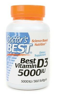 Vitamin D3 (5000IU) - Dr's Best - 360 softgels