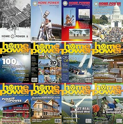 Home Power Magazine's COMPLETE ARCHIVE DVD (ISSUES #1-173) + Extras Pdf's Solar