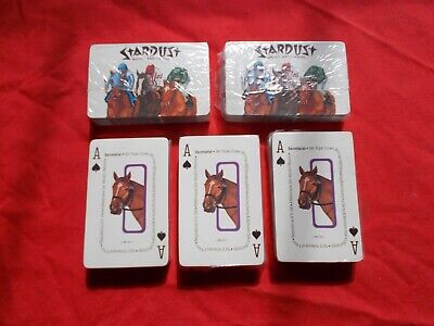 CASINO PLAYING CARDS - Stardust Hotel and Casino Sealed Playing Decks 5 DECKS