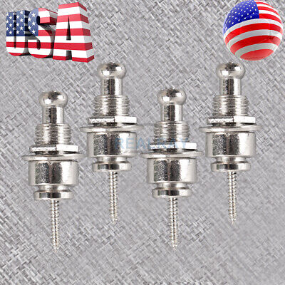 4pcs Schaller Style Guitar Strap Locks Round Head German style chrome-plated