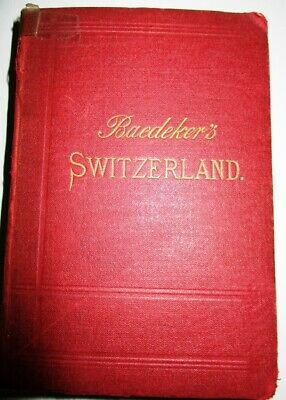 Baedeker's Switzerland Italy Savoy And The Tyrol 1893 Maps Plans & Panoramas
