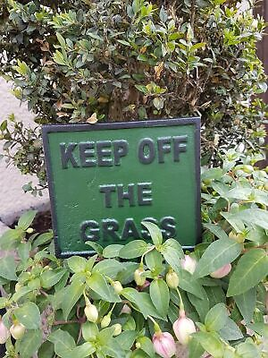 Cast Iron Please Keep Off The Grass Lawn Sign Garden Hotel Pub Cafe Lawn